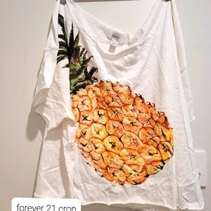 Forever 21 pineapple crop top 3XL